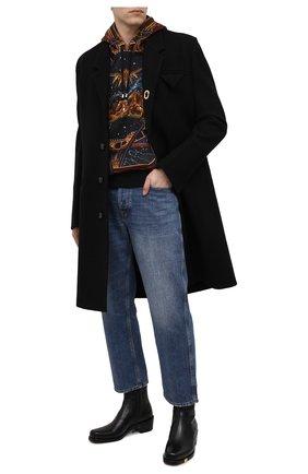 Мужской хлопковое худи BALMAIN разноцветного цвета, арт. UH03250/I351   Фото 2