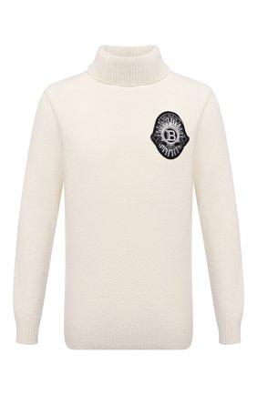 Мужской свитер из шерсти и кашемира BALMAIN белого цвета, арт. UH03492/K047   Фото 1