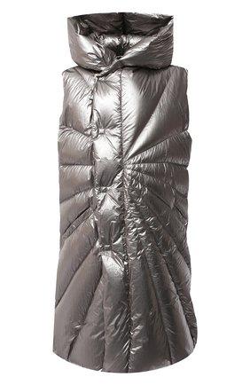 Мужской пуховый жилет moncler + rick owens MONCLER серебряного цвета, арт. MU20F0006/C0608 | Фото 1