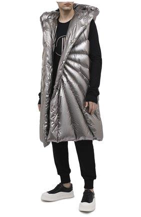 Мужской пуховый жилет moncler + rick owens MONCLER серебряного цвета, арт. MU20F0006/C0608 | Фото 2
