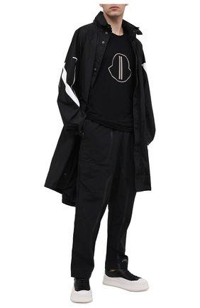 Мужская хлопковый лонгслив moncler + rick owens MONCLER черного цвета, арт. MU20F0014/V8170 | Фото 2