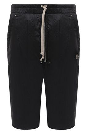 Мужские шорты moncler + rick owens MONCLER черного цвета, арт. MU20F0024/C0594 | Фото 1