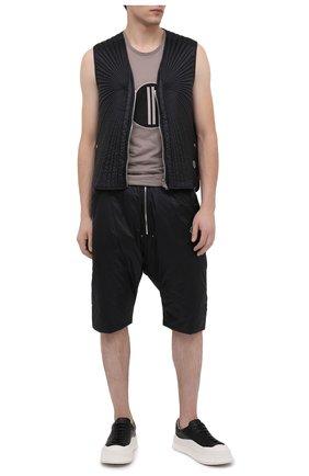 Мужские шорты moncler + rick owens MONCLER черного цвета, арт. MU20F0024/C0594 | Фото 2