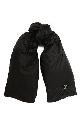 Мужской пуховый шарф moncler + rick owens MONCLER черного цвета, арт. MU20F0028/C0594 | Фото 1
