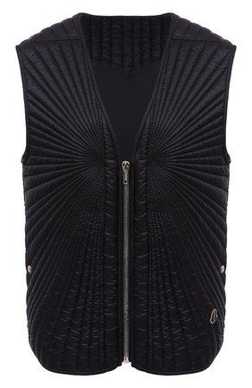 Мужской пуховый жилет moncler + rick owens MONCLER черного цвета, арт. MU20F0011/C0596 | Фото 1