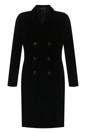 Мужской пальто GIORGIO ARMANI черного цвета, арт. 0WG0L05S/T0025   Фото 1