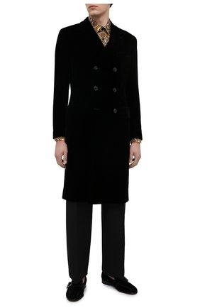 Мужской пальто GIORGIO ARMANI черного цвета, арт. 0WG0L05S/T0025   Фото 2