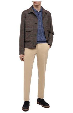 Мужской хлопковые брюки RALPH LAUREN кремвого цвета, арт. 798819420 | Фото 2