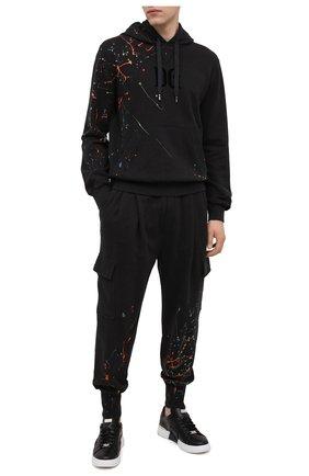 Мужской хлопковые джоггеры DOLCE & GABBANA серого цвета, арт. GW7WAT/FU7DU | Фото 2
