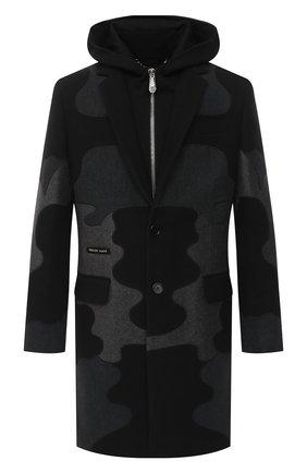 Мужской пальто из шерсти и кашемира PHILIPP PLEIN серого цвета, арт. A20C MRA0336 PTE003N | Фото 1