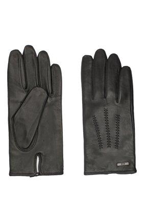 Мужские кожаные перчатки BOSS черного цвета, арт. 50437119 | Фото 2