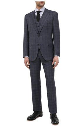 Мужской шерстяной костюм-тройка CANALI синего цвета, арт. T11280/10/BX02796 | Фото 1