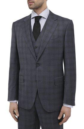 Мужской шерстяной костюм-тройка CANALI синего цвета, арт. T11280/10/BX02796 | Фото 2