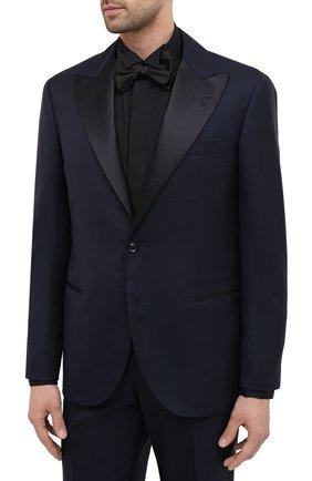 Мужской шерстяной смокинг BRUNELLO CUCINELLI темно-синего цвета, арт. MF460AS21 | Фото 2