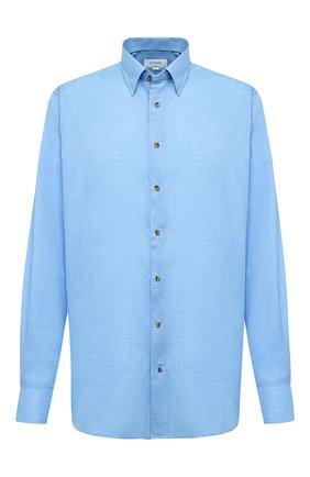 Мужская хлопковая сорочка ETON голубого цвета, арт. 1000 01747 | Фото 1 (Материал внешний: Хлопок; Рукава: Длинные; Рубашки М: Regular Fit; Стили: Классический; Случай: Формальный; Big sizes: Big Sizes; Воротник: Кент)