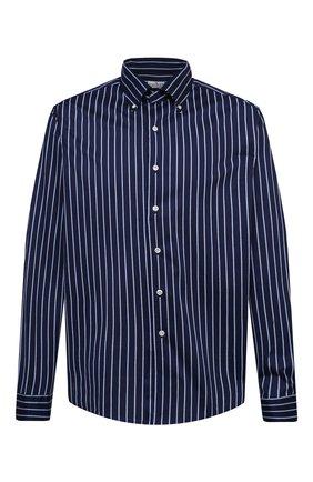 Мужская хлопковая рубашка SONRISA синего цвета, арт. IFJ7167/J826/47-51 | Фото 1