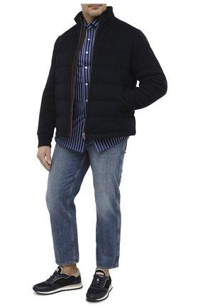 Мужская хлопковая рубашка SONRISA синего цвета, арт. IFJ7167/J826/47-51 | Фото 2