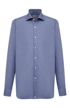 Мужская хлопковая рубашка SONRISA синего цвета, арт. IL7/L1080 | Фото 1 (Материал внешний: Хлопок; Рукава: Длинные; Длина (для топов): Стандартные; Принт: Однотонные; Рубашки М: Classic Fit; Мужское Кросс-КТ: Рубашка-одежда; Стили: Кэжуэл; Случай: Повседневный; Big sizes: Big Sizes; Манжеты: На пуговицах; Воротник: Акула)