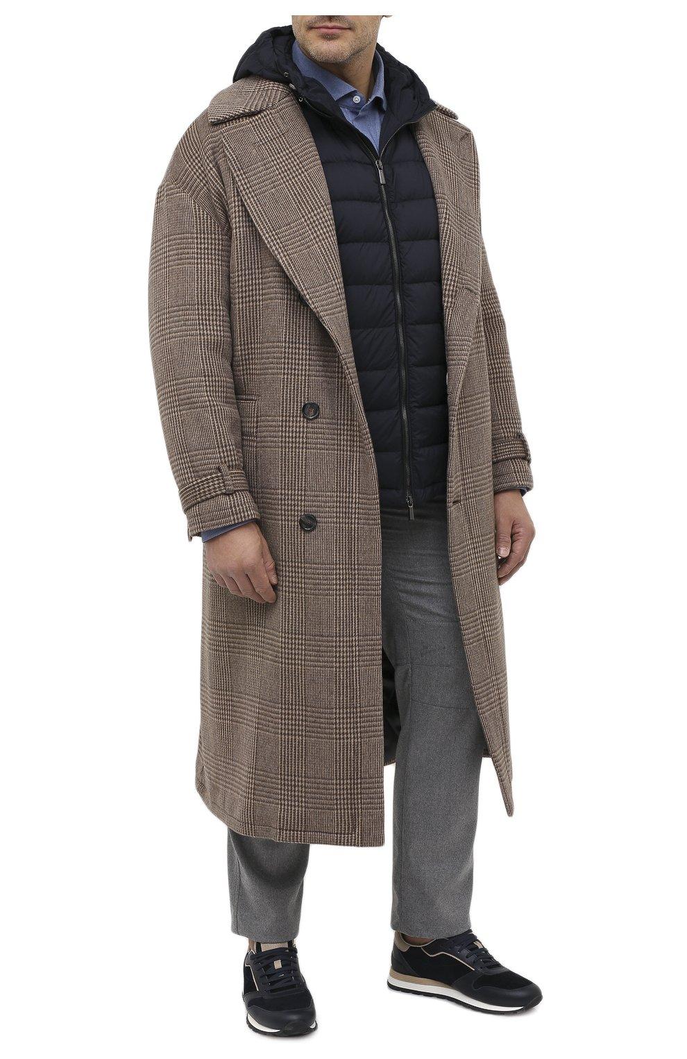 Мужской пуховый жилет blake-s3 MOORER темно-синего цвета, арт. BLAKE-S3/A20M350REFL/60-68 | Фото 2 (Кросс-КТ: Куртка, Пуховик; Big sizes: Big Sizes; Материал внешний: Синтетический материал; Материал подклада: Синтетический материал; Мужское Кросс-КТ: Верхняя одежда; Длина (верхняя одежда): Короткие; Стили: Кэжуэл)