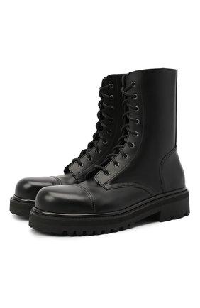 Мужские кожаные ботинки VETEMENTS черного цвета, арт. MAH21B0231 2450 | Фото 1