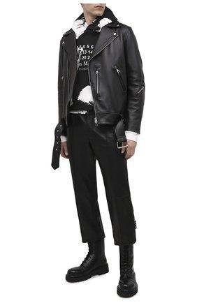 Мужские кожаные ботинки VETEMENTS черного цвета, арт. MAH21B0231 2450 | Фото 2