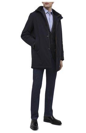 Мужские кожаные оксфорды SANTONI черного цвета, арт. MCLE16882BQ4IVVDN01 | Фото 2