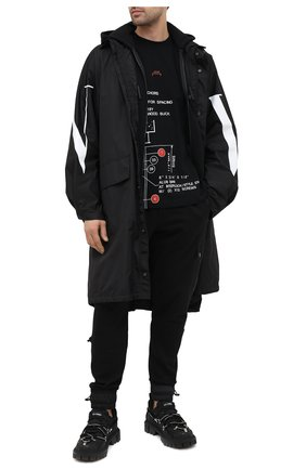 Мужская хлопковая футболка A-COLD-WALL* черного цвета, арт. ACWMTS003 | Фото 2