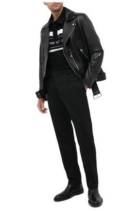 Мужское хлопковое поло 1017 ALYX 9SM черно-белого цвета, арт. AAMTS0194FA01 | Фото 2
