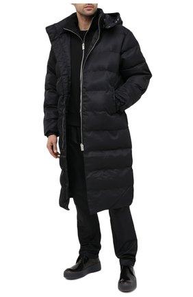 Мужская утепленное пальто 1017 ALYX 9SM черного цвета, арт. AAU0U0170FA01   Фото 2