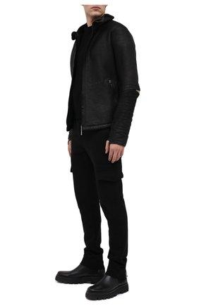 Мужская дубленка ISAAC SELLAM черного цвета, арт. AGUERRIH21-STRAK | Фото 2