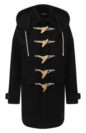 Мужской шерстное пальто DSQUARED2 черного цвета, арт. S71AA0394/S53003 | Фото 1