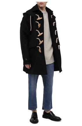 Мужской шерстное пальто DSQUARED2 черного цвета, арт. S71AA0394/S53003 | Фото 2