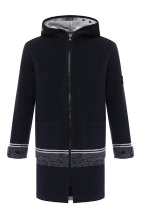 Мужской шерстяное пальто STONE ISLAND темно-синего цвета, арт. 731571252 | Фото 1