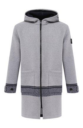 Мужской шерстяное пальто STONE ISLAND светло-серого цвета, арт. 731571252 | Фото 1