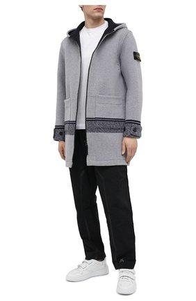 Мужской шерстяное пальто STONE ISLAND светло-серого цвета, арт. 731571252 | Фото 2