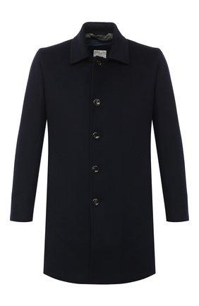 Мужской пальто из шерсти и кашемира L.B.M. 1911 темно-синего цвета, арт. 7395/00515 | Фото 1