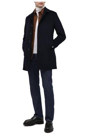 Мужской пальто из шерсти и кашемира L.B.M. 1911 темно-синего цвета, арт. 7395/00515 | Фото 2