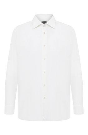 Мужская хлопковая сорочка ERMENEGILDO ZEGNA белого цвета, арт. 8010319MS0BR   Фото 1