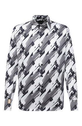 Мужская хлопковая рубашка BILLIONAIRE серого цвета, арт. W20C MRP1323 BTE002N | Фото 1