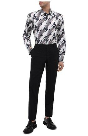 Мужская хлопковая рубашка BILLIONAIRE серого цвета, арт. W20C MRP1323 BTE002N | Фото 2