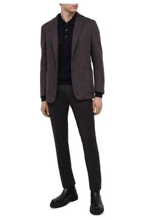 Мужской шерстяные брюки BERWICH темно-фиолетового цвета, арт. SC/1/RD5470 | Фото 2