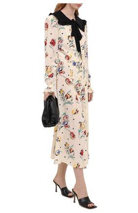 Женское шелковое платье ALESSANDRA RICH разноцветного цвета, арт. FAB2207-F2901 | Фото 2