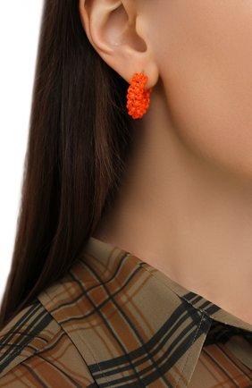 Женские серьги HIAYNDERFYT оранжевого цвета, арт. 1405.1 | Фото 2