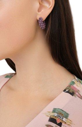 Женские серьги HIAYNDERFYT фиолетового цвета, арт. 1405.7 | Фото 2