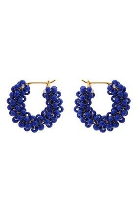 Женские серьги HIAYNDERFYT синего цвета, арт. 1405.3 | Фото 1