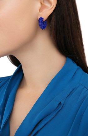 Женские серьги HIAYNDERFYT синего цвета, арт. 1405.3 | Фото 2