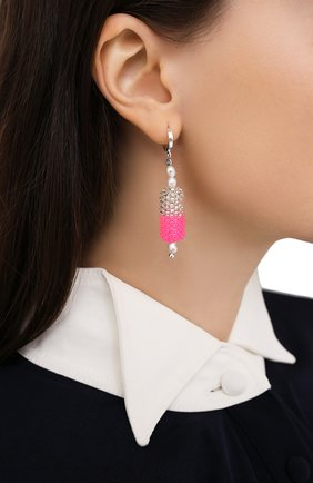 Женские моносерьга таблетка HIAYNDERFYT розового цвета, арт. 1405.8 | Фото 2