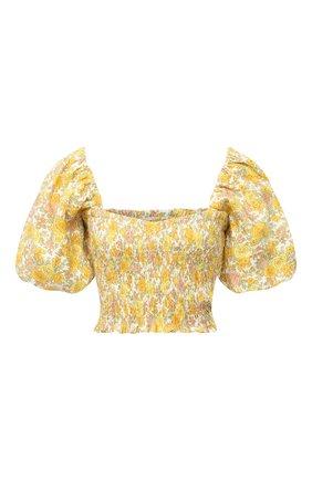 Женский льняной топ FAITHFULL THE BRAND желтого цвета, арт. FF1611-GGF | Фото 1