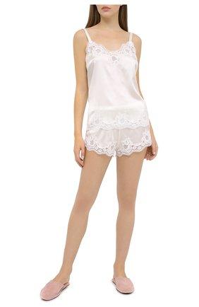 Женские шорты из шелка и хлопка DOLCE & GABBANA белого цвета, арт. 03B35T/FUAD8 | Фото 2