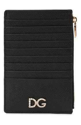 Женский кожаный футляр для кредитных карт DOLCE & GABBANA черного цвета, арт. BI1390/AU771 | Фото 1